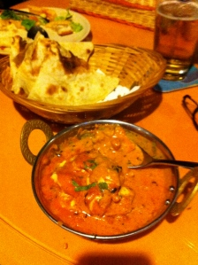 Butter Chicken and Plain Naan