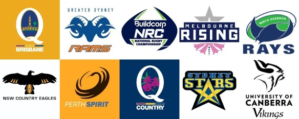 The Buildcorp National Rugby Championship teams. Photo from: www.bmcsport.com.au